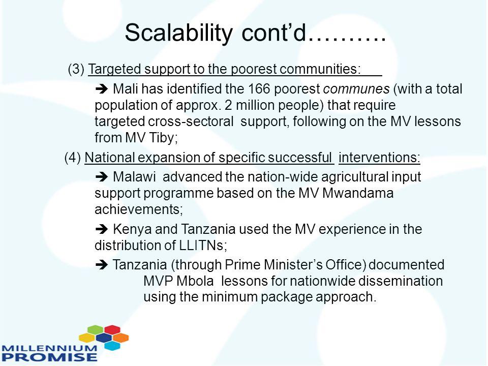 Scalability cont'd……….