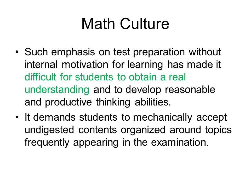 Math Culture