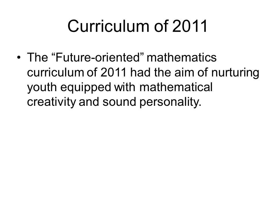 Curriculum of 2011