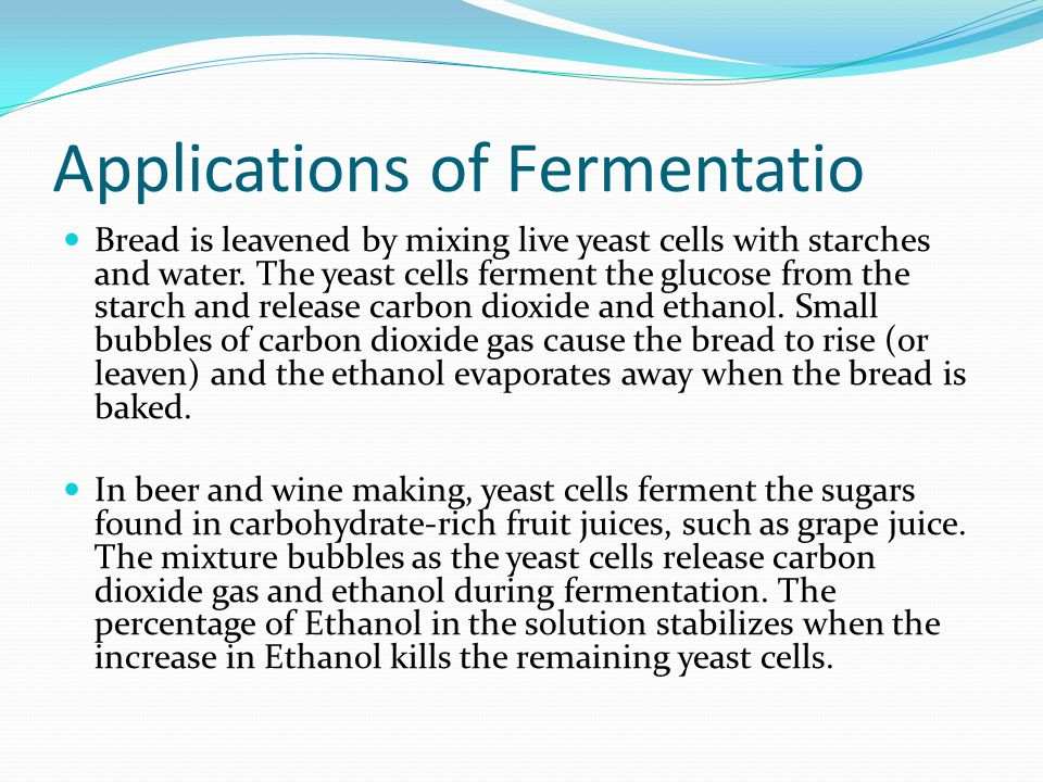 Applications of Fermentatio