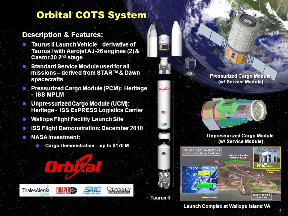 Orbital COTS System Description & Features:
