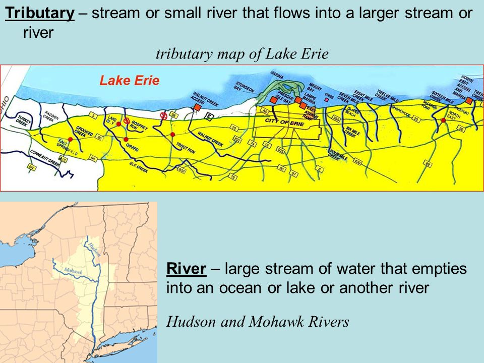 tributary map of Lake Erie