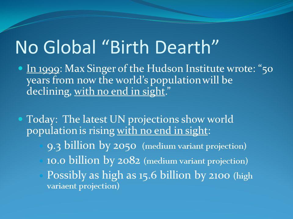 No Global Birth Dearth