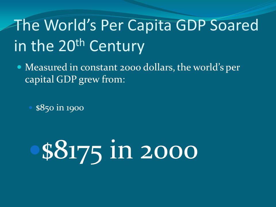 The World's Per Capita GDP Soared in the 20th Century