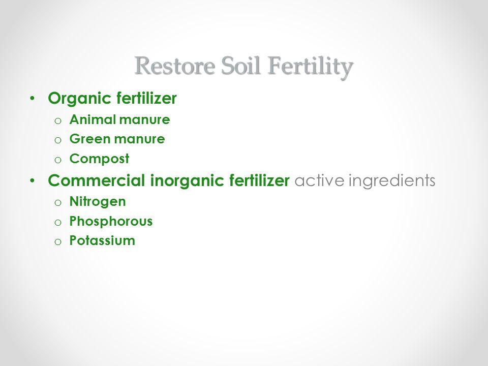 Restore Soil Fertility