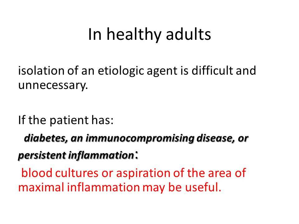 In healthy adults