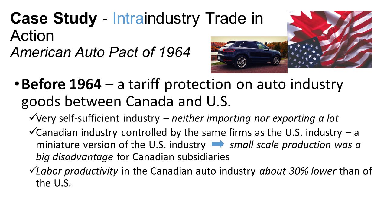 Case Study - Intraindustry Trade in Action American Auto Pact of 1964