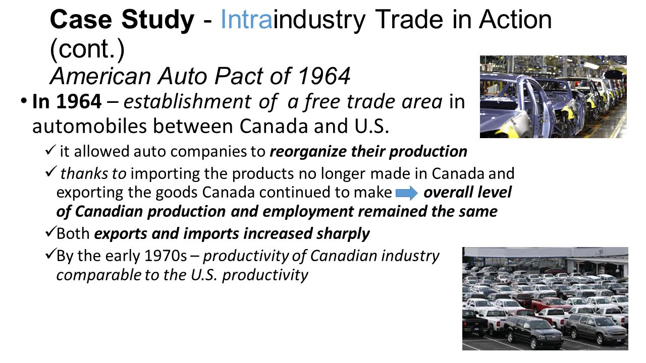Case Study - Intraindustry Trade in Action (cont
