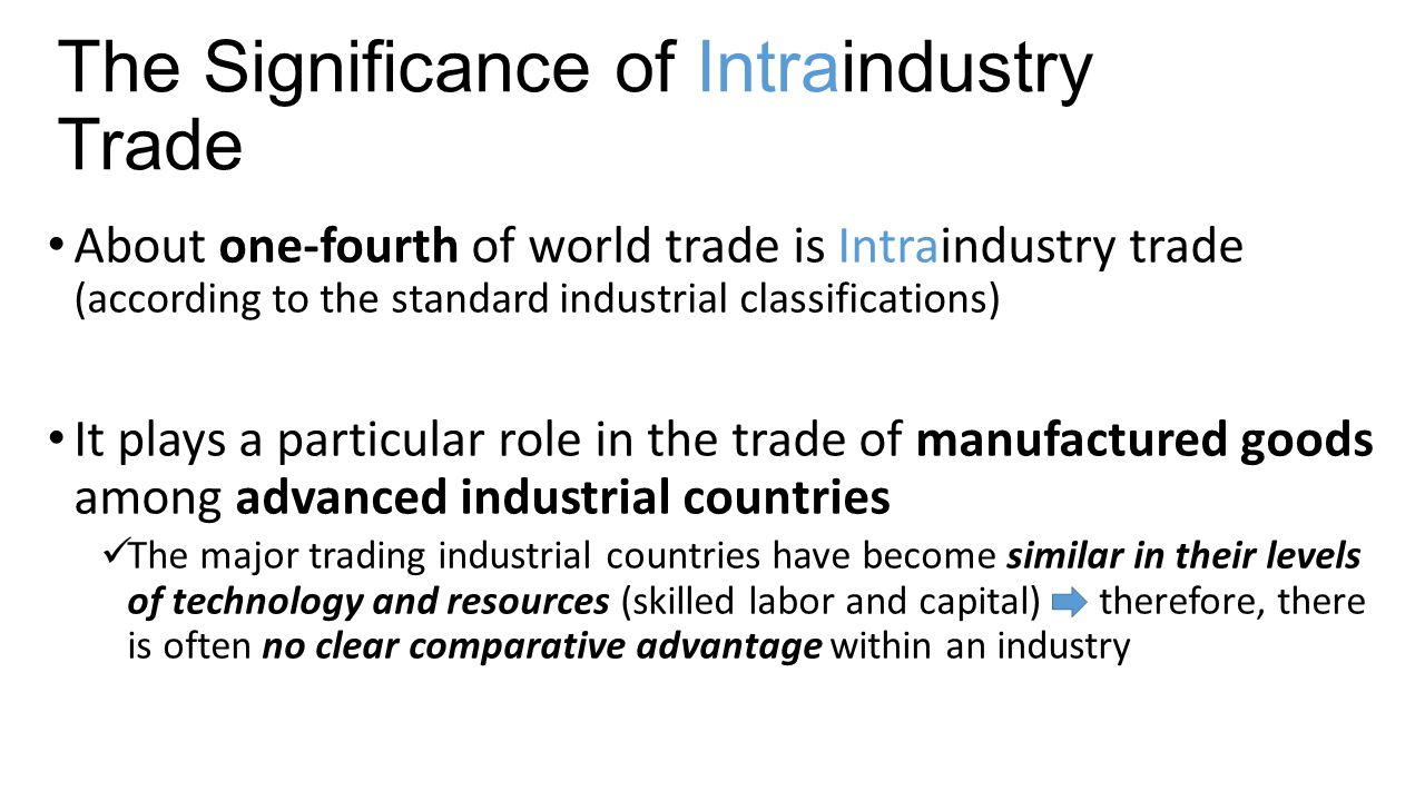 The Significance of Intraindustry Trade