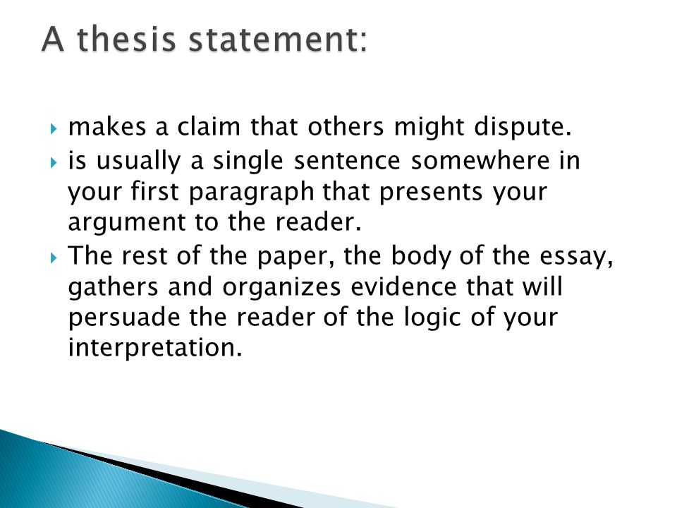 claim assertion thesis