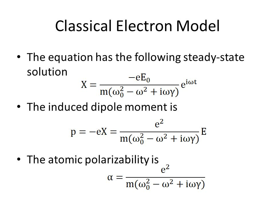 Classical Electron Model