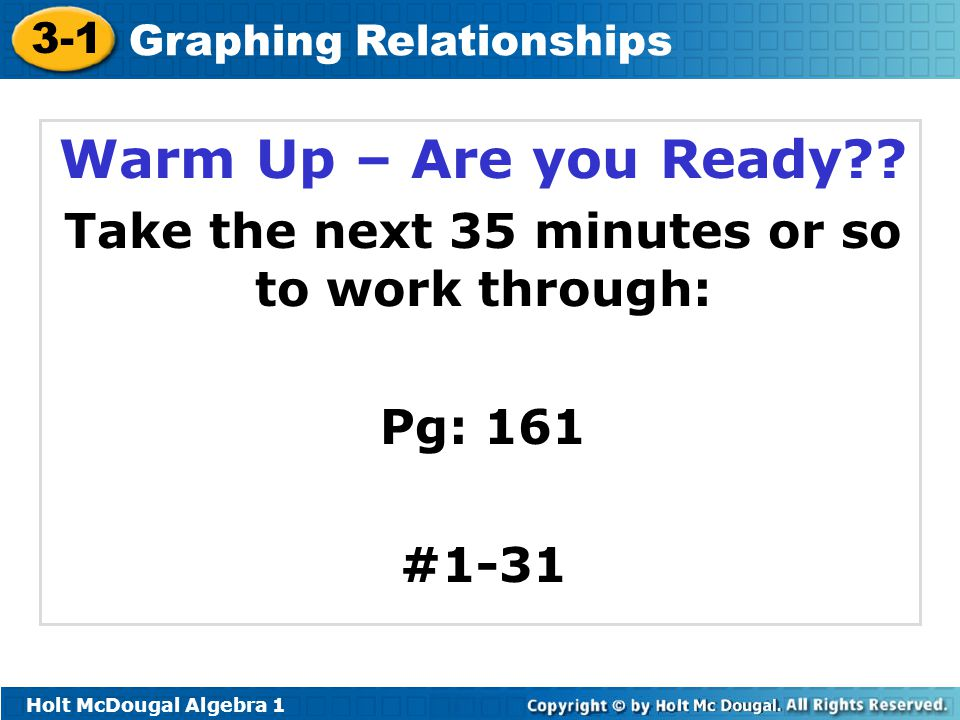 Take the next 35 minutes or so to work through: