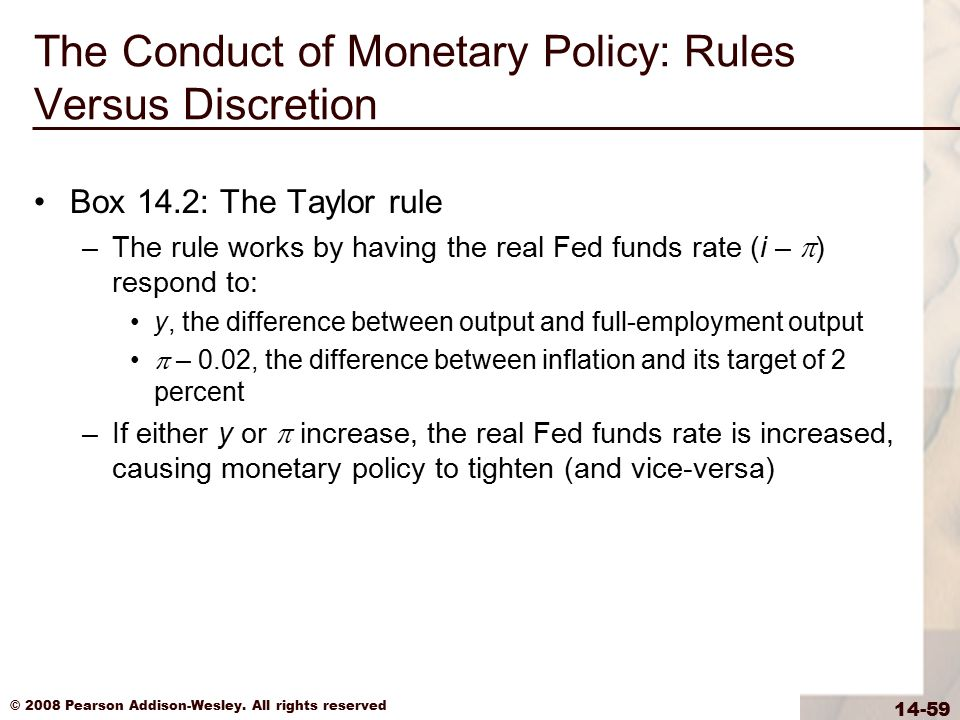 The Conduct of Monetary Policy: Rules Versus Discretion