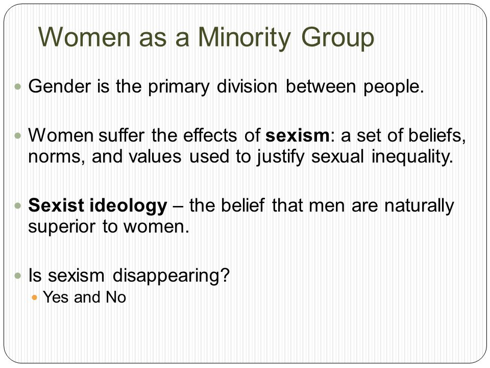 Women as a Minority Group