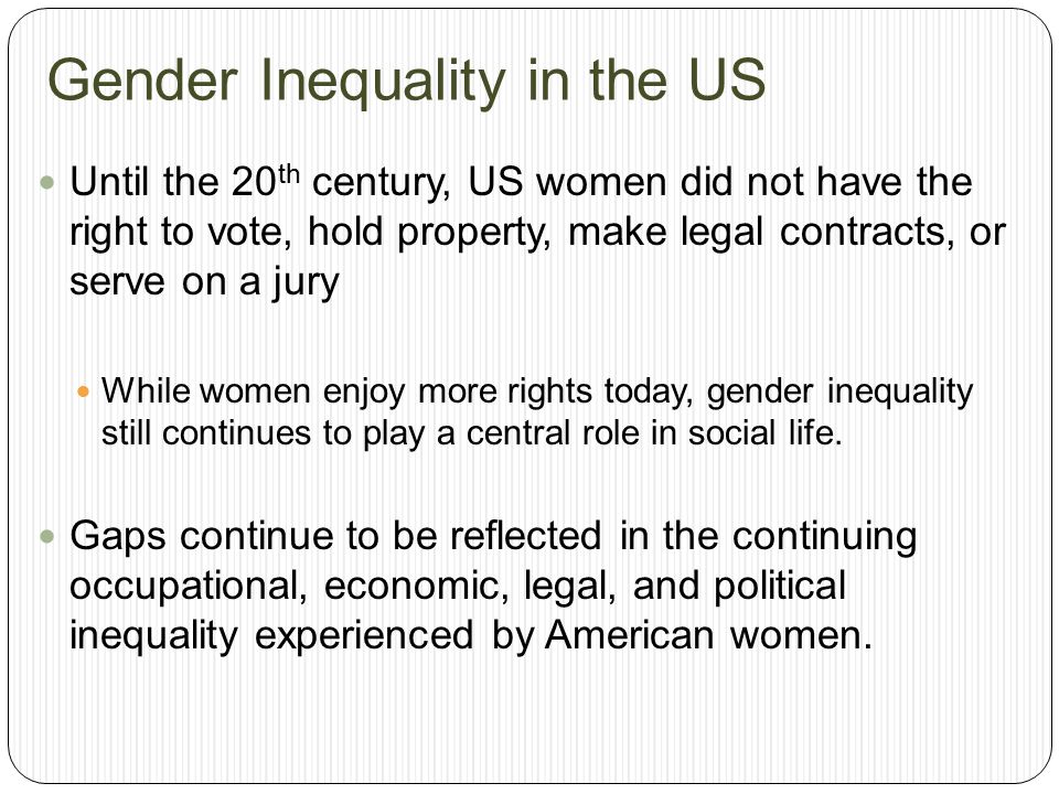 Gender Inequality in the US