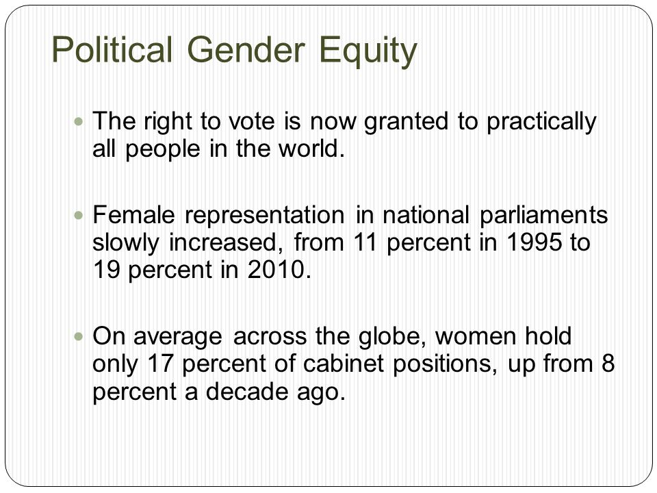 Political Gender Equity
