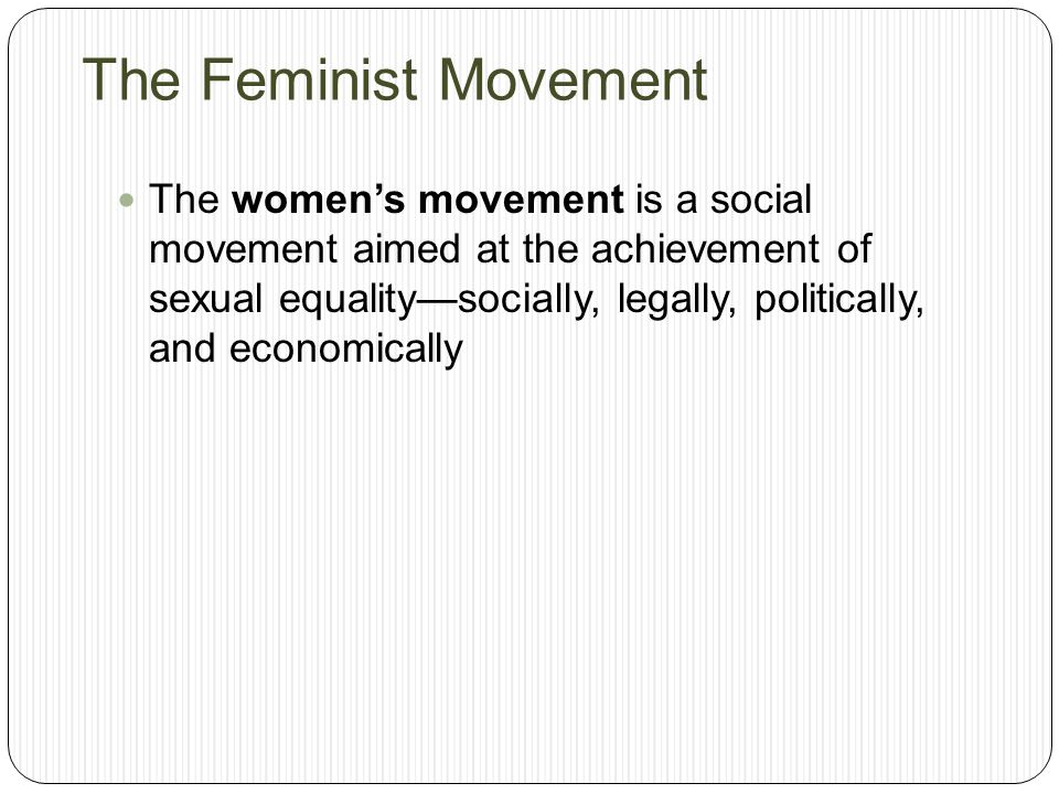 Gender inequality feminism movement
