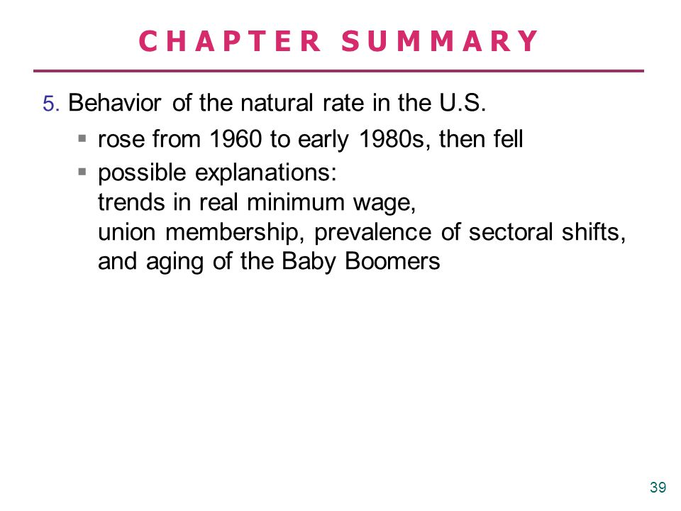 CHAPTER SUMMARY has risen sharply since 1970