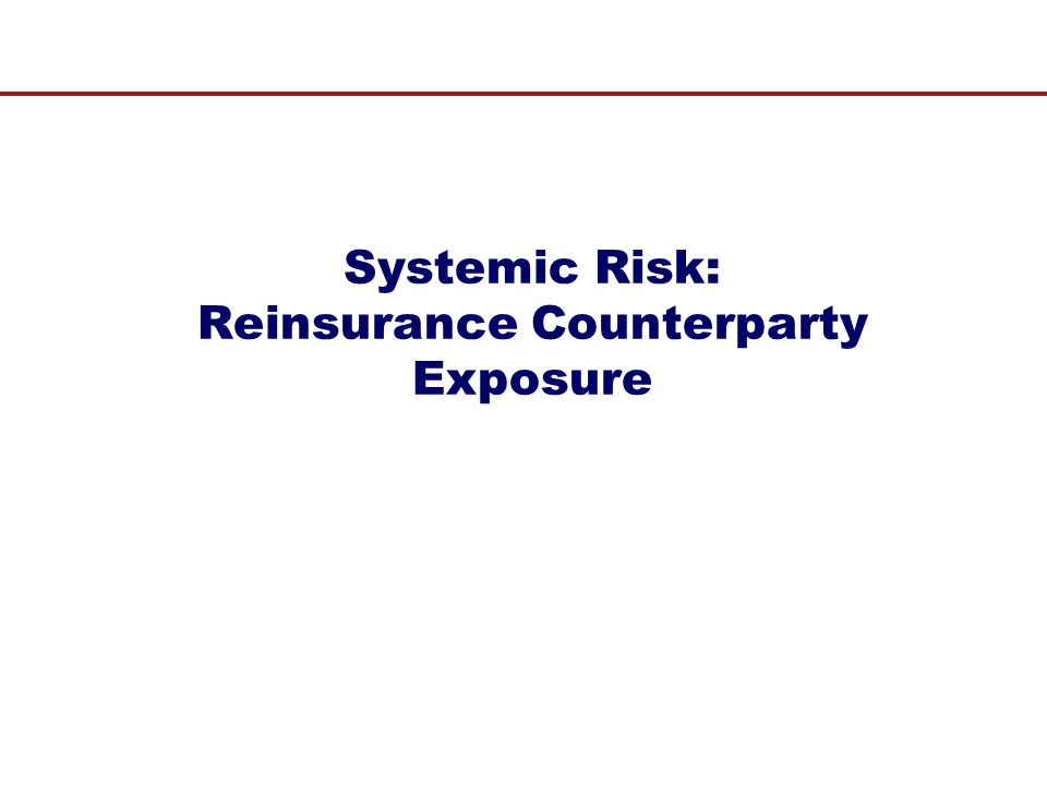 Systemic Risk: Reinsurance Counterparty Exposure