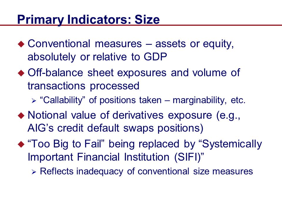Primary Indicators: Size