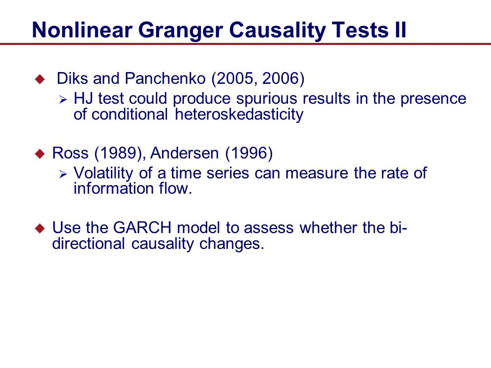 Nonlinear Granger Causality Tests II