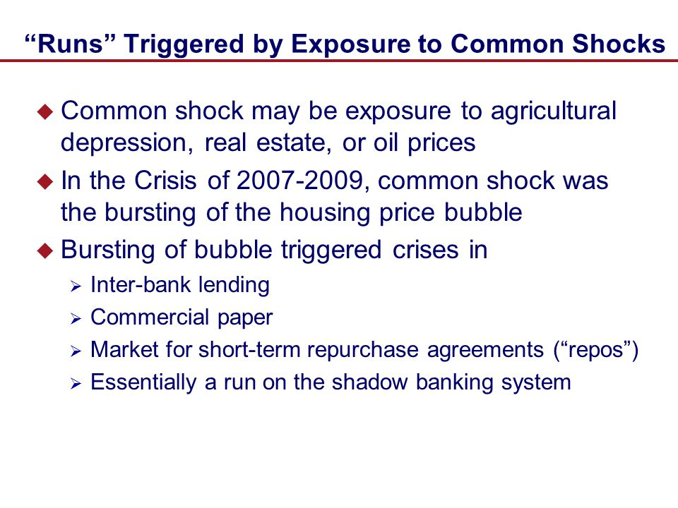 Runs Triggered by Exposure to Common Shocks