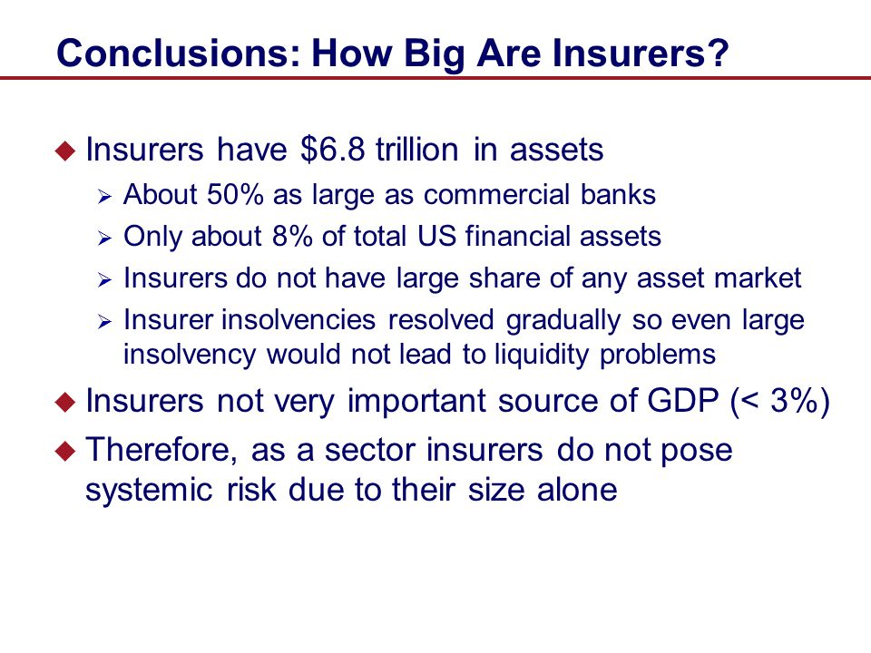 Conclusions: How Big Are Insurers