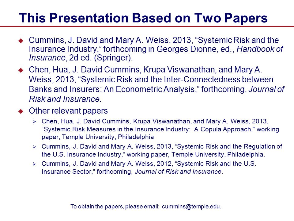 This Presentation Based on Two Papers