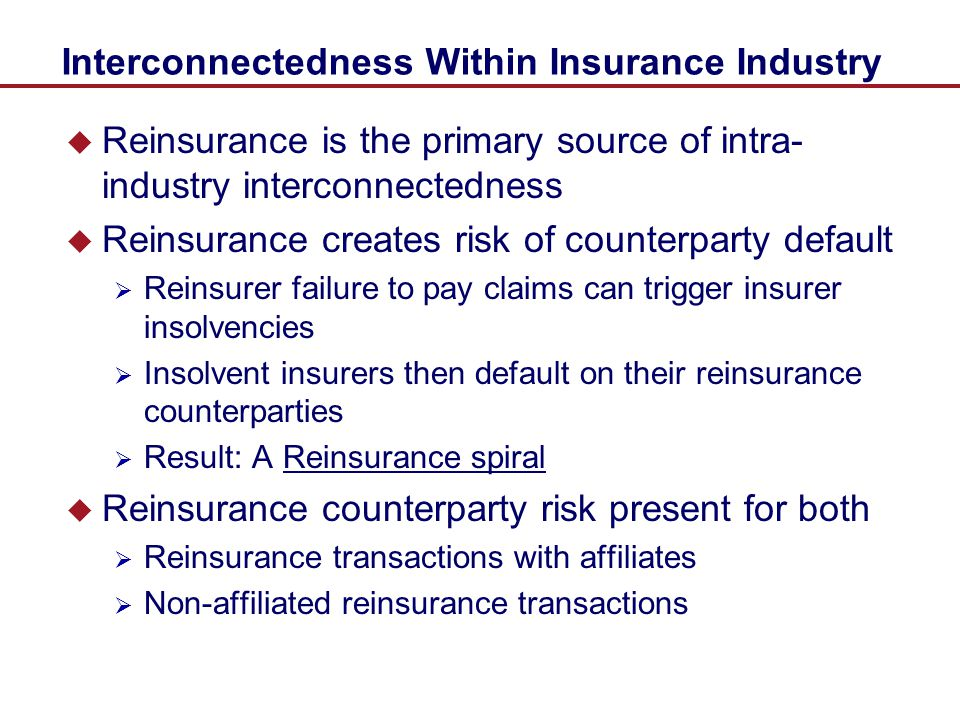 Interconnectedness Within Insurance Industry