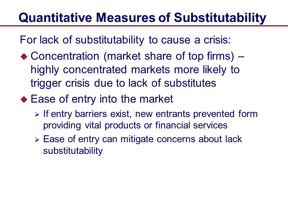 Quantitative Measures of Substitutability