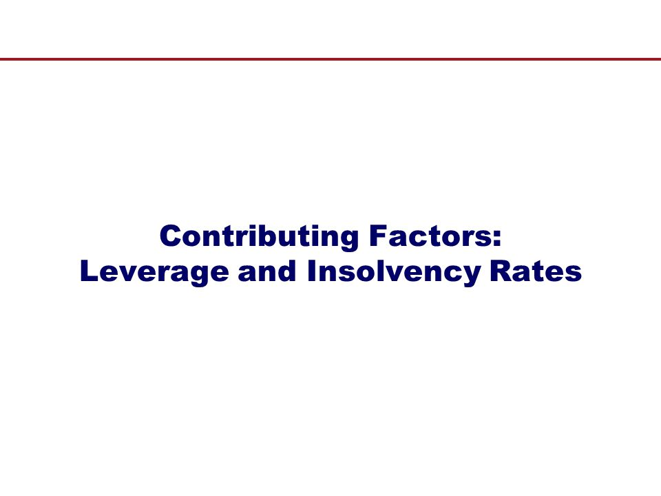 Contributing Factors: Leverage and Insolvency Rates