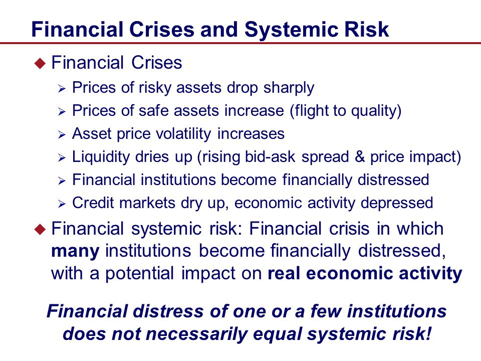 Financial Crises and Systemic Risk