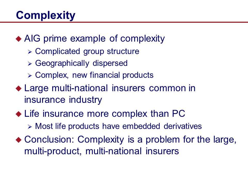 Complexity AIG prime example of complexity