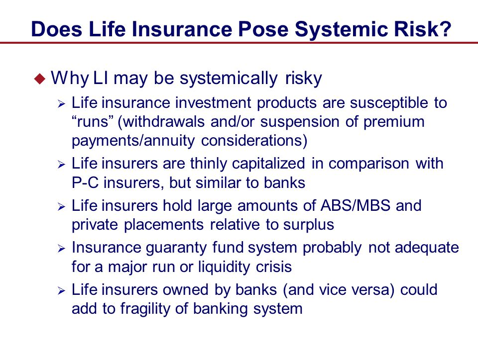 Does Life Insurance Pose Systemic Risk