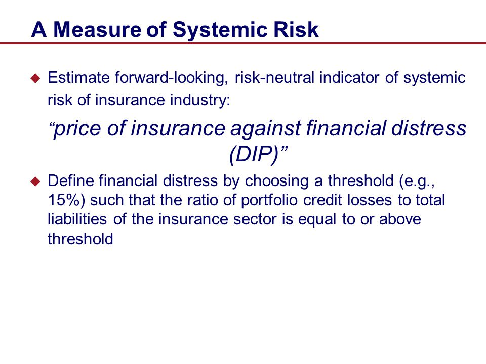 A Measure of Systemic Risk