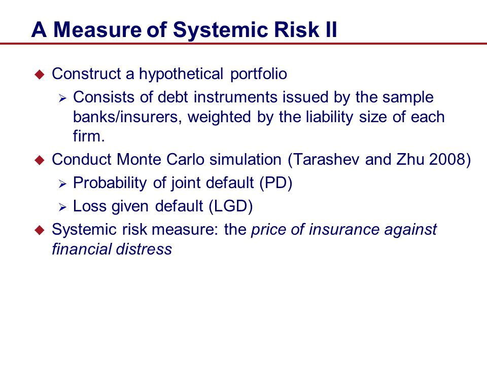 A Measure of Systemic Risk II