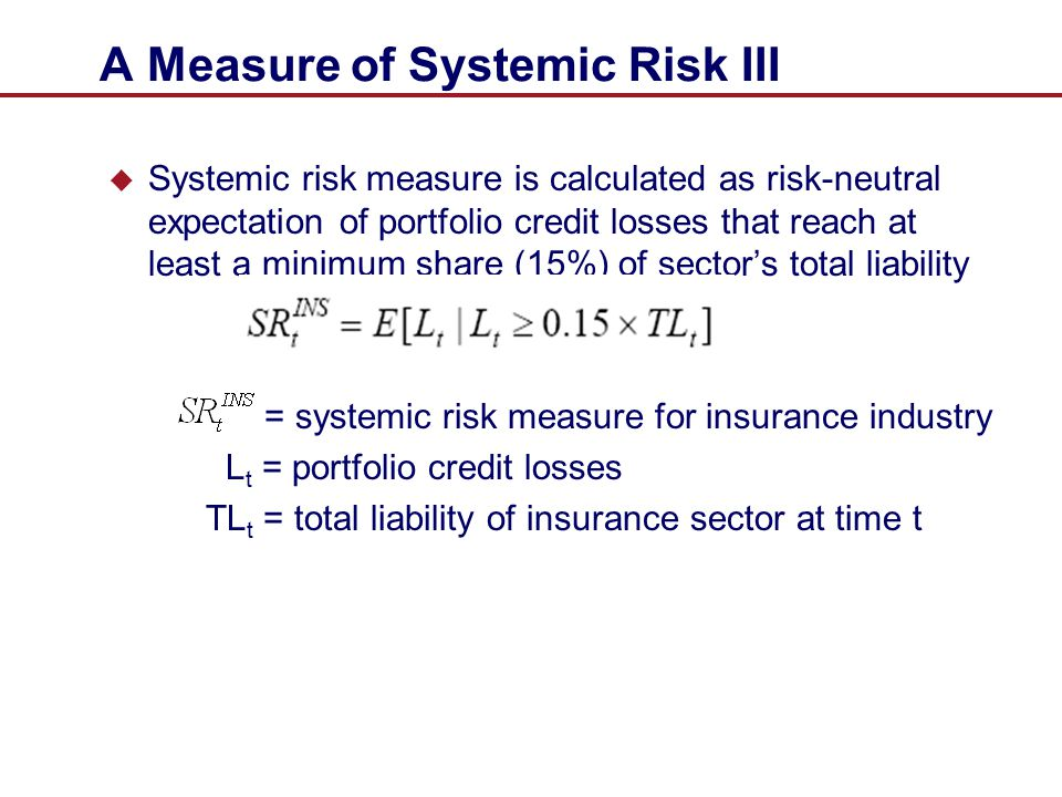 A Measure of Systemic Risk III