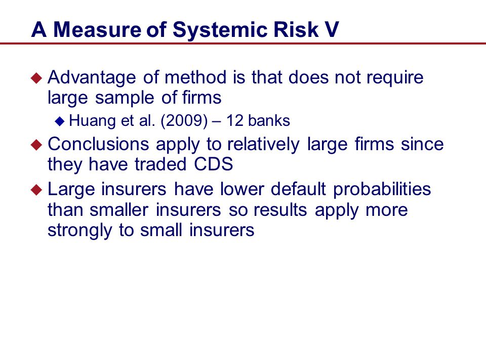 A Measure of Systemic Risk V
