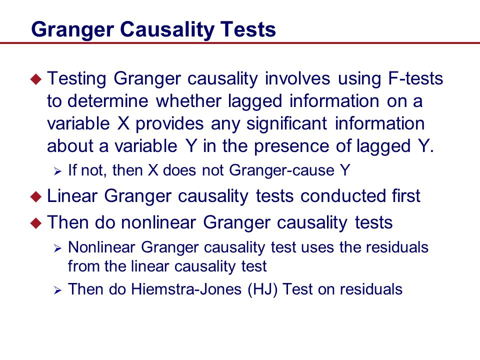 Granger Causality Tests