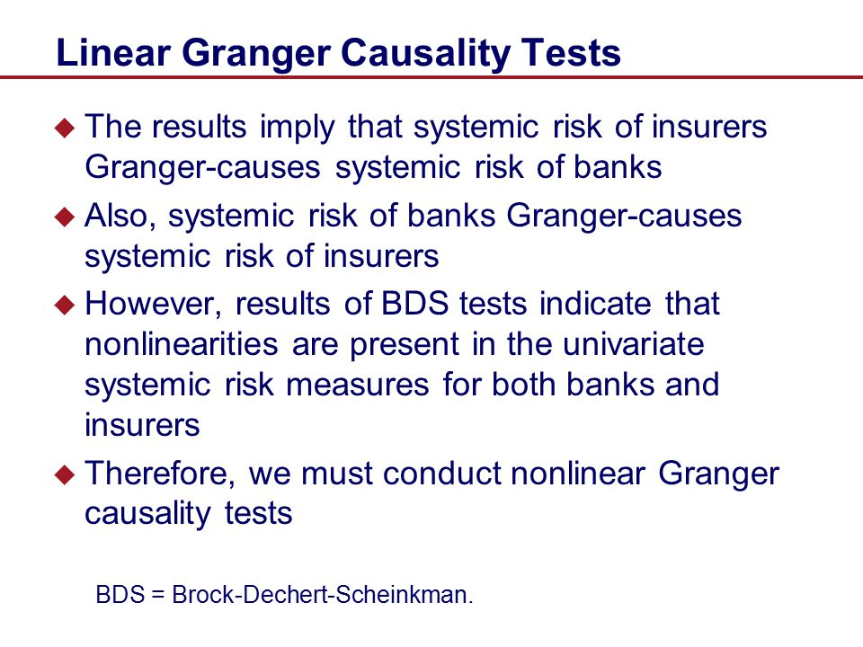 Linear Granger Causality Tests