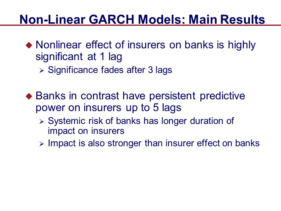 Non-Linear GARCH Models: Main Results