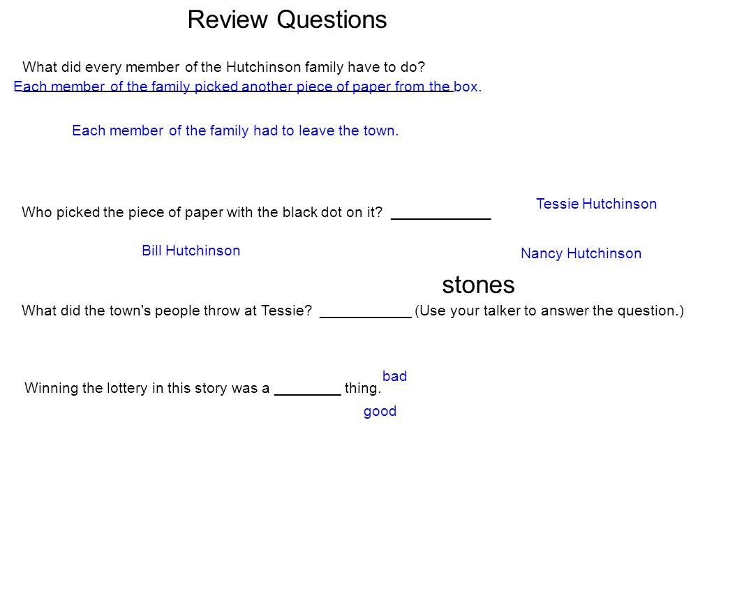 Review Questions stones