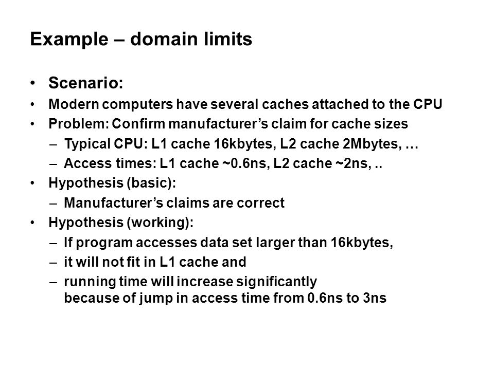 Example – domain limits