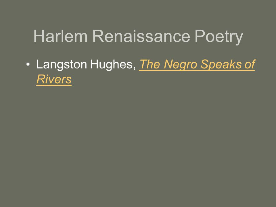 poems of the the harlem renaissance A queer harlem poet's renaissance and  at the core of the harlem renaissance of the 1920s continues to throw  publishing his first book of poems,.