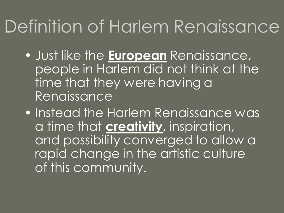 Definition of Harlem Renaissance