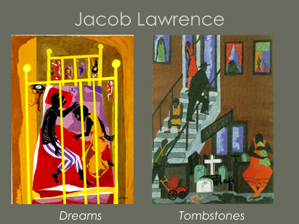 Jacob Lawrence Dreams Tombstones