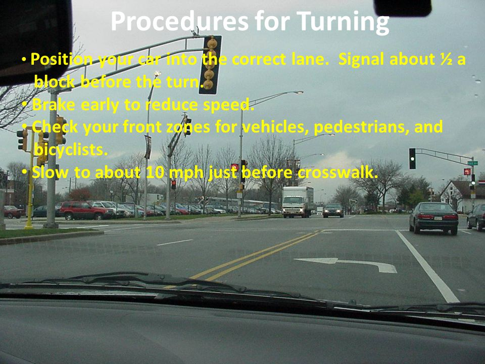 Procedures for Turning
