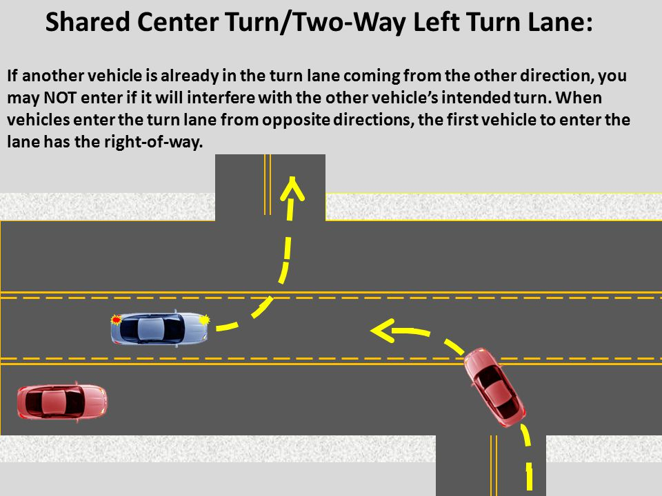 Shared Center Turn/Two-Way Left Turn Lane: