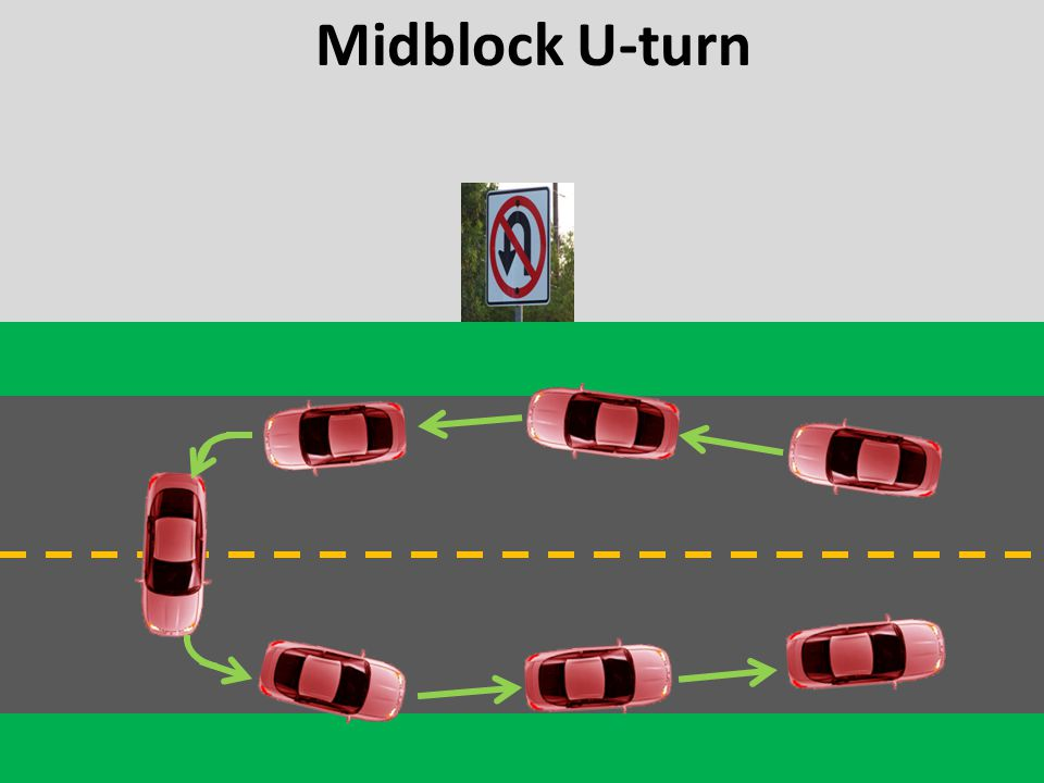 Midblock U-turn