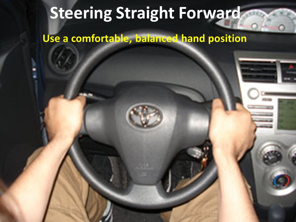 Steering Straight Forward